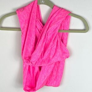 COPY - Bright Neon Pink Infinity Circle Scarf One…